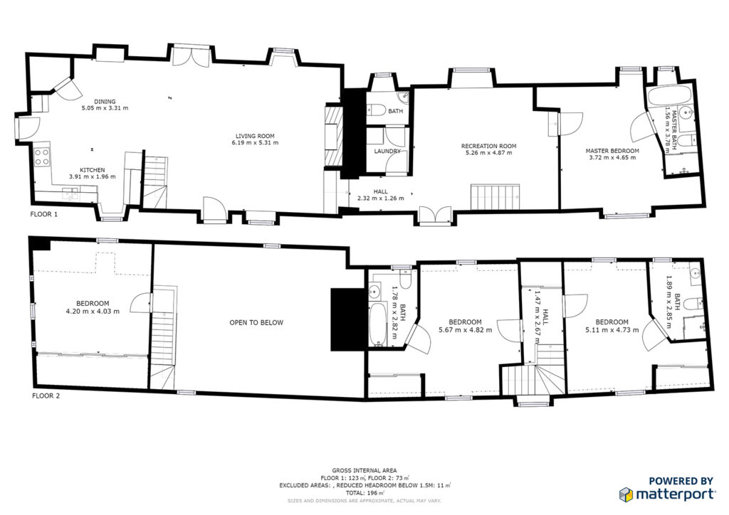 Plan 2D Matterport
